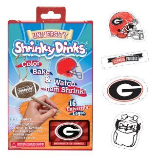 NCAA Georgia Bulldogs Ruff N' Ready Shrinky Dinks Plastic Sheets : Childrens Art Supply Sets : Sports & Outdoors