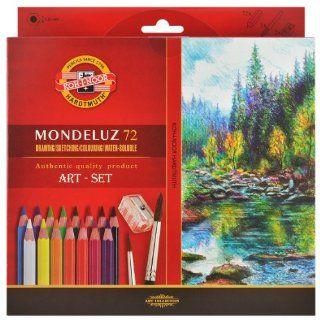 Koh i noor Mondeluz Aquarell Drawing Set. 72 Colored Pencils. 3714