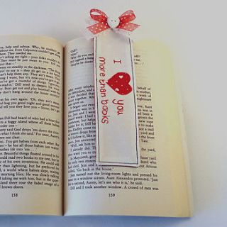 personalised 'i love you…' bookmark by cherish handmade