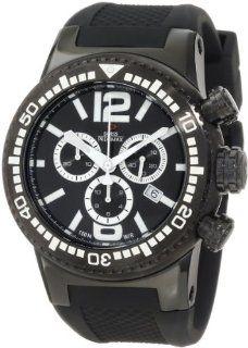 Swiss Precimax Men's SP12035 Titan Elite Black Dial with Black Silicone Band Watch Swiss Precimax Watches