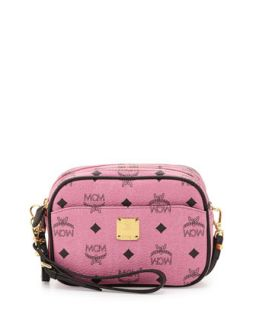 Visetos Mini Crossbody Bag, Pink   MCM
