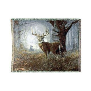 Impending Challenge Deer Hunter Hunting Tapestry Throw Blanket 50 x 70 Bedding