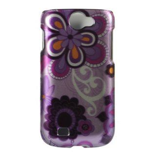 VMG Samsung Exhibit 2 4G T679 Design Hard Case Cover 3 ITEM COMBO Purple Dais: Cell Phones & Accessories