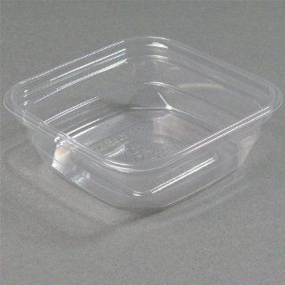 8 oz. Square PLA Biodegradable / Compostable Plastic Clear Corn Deli Container 500/CS: Health & Personal Care