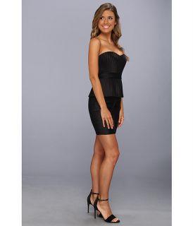 BCBGMAXAZRIA Karina Strapless Peplum Dress