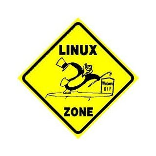 LINUX ZONE computer penguin software NEW sign   Yard Signs
