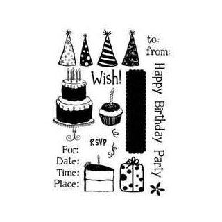 PC   Simply Chic   Birthday Wish Stamps:
