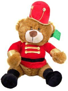 Gift for Her Christmas Parade Marching Band Teddy Bear Red Gold Uniform with Top Hat Stuffed Animal Plush Toy: Toys & Games