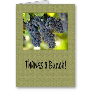 Thanks a Red Grape Bunch Boss's Boss Day Greeting Card