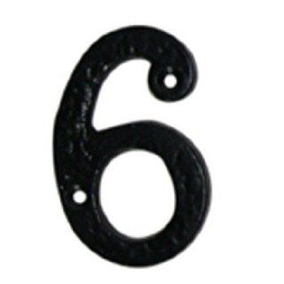"""House Numbers Black Wrought Iron, #6 & 9  4"""" high  15985"""