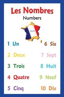 French Language School Poster   Number Chart : Office Products : Office Products