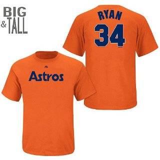 Houston Astros Nolan Ryan Cooperstown Adult Orange Player T Shirt  Sports & Outdoors