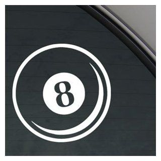 Small Eight Ball Decal Car Truck Window Sticker   Automotive Decals