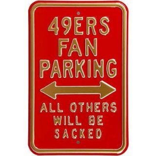 49ers Sacked Parking Metal Sign   Prints