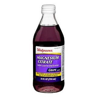 Walgreens Magnesium Citrate Saline Laxative Oral Solution, Grape, 10 fl oz: Health & Personal Care