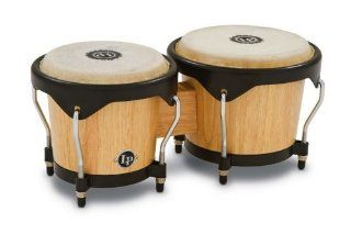 Latin Percussion LP601NY AW LP City Wood Bongos   Natural: Musical Instruments
