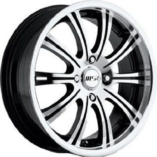 MSR 49 17 Machined Black Wheel / Rim 5x4.5 with a 40mm Offset and a 72.64 Hub Bore. Partnumber 4928712: Automotive