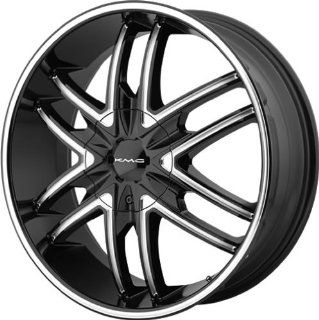 KMC KM678 22x9.5 Black Wheel / Rim 5x115 & 5x120 with a 15mm Offset and a 74.10 Hub Bore. Partnumber KM67822920315: Automotive