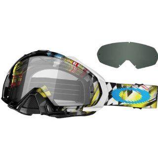 Oakley James Stewart Mayhem MX JS 7 Men's Special Editions Signature Series MX Motorcycle Goggles Eyewear   Clear, Dark Grey / One Size Fits All Automotive