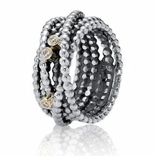 TAOTAOHAS Damen   Ringe Gr. 56 (18.5) Antik Two Tone Sterling Silber 925 mit klar Kristall, Verschr�nkte Sch�nheit: TAOTAOHAS: Schmuck