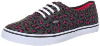 Vans Authentic Lo Pro VQES75P, Unisex   Erwachsene Klassische Sneakers, Grau ((Leopard) gray/neon pink), EU 36 (US 4.5): Schuhe & Handtaschen