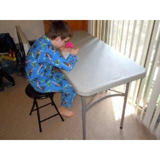 Office Star 4 Foot Resin Multipurpose Table, Light Grey   Folding Tables