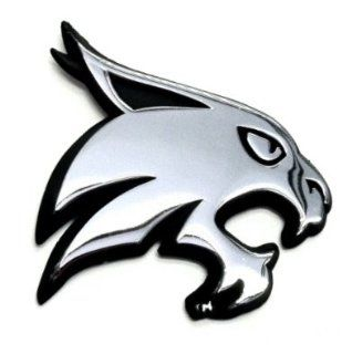 Texas State Bobcats Premium METAL Auto Emblem: Automotive
