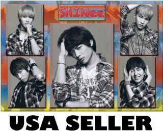 Shinee 5 panel b&w collage POSTER 34 x 23.5 Taemin Onew Korean boy band (sent FROM USA in PVC pipe) : Prints : Everything Else