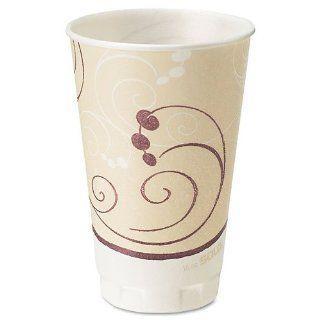SOLO Cup Company Symphony Design Trophy Foam Hot/Cold Drink Cups, 16 oz., Beige, 750 Cups/Carton Automotive
