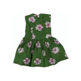 New Abercrombie & Fitch Green Floral Strapless Christina Dress Medium A&F Size M Health & Personal Care