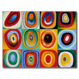 Imagen rusa del arte abstracto del pintor de Wassi Postal de