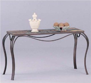 Slate Top Metal Base Sofa Table By Coaster Furniture