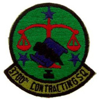 U.S. Air Force 3700th Contracting Squadron Patch Green Patio, Lawn & Garden