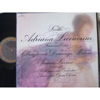 Cilea Adriana Lecouvreur with Scotto and Levine; 3 LPs Quad Francesco Cilea, James Levine, Renata Scotto, Placido Domingo Music