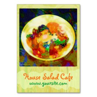House Salad Cafe Business Card