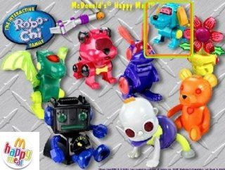 McDonalds Happy Meal Robo Chi Pets GREEN POOCHI Wind Up Dog Toy #7 2002