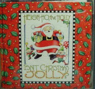 Mary Engelbreit Set of 12 Mini Note Cards Gift Enclosures & 12 Envelopes Heigh Ho The Holly Isn't Christmas Jolly? Dancing Santa Claus & Elves Theme : Notepads : Office Products