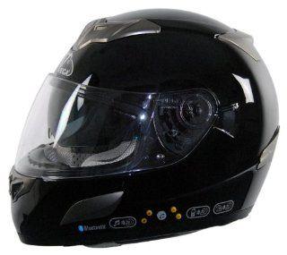 Vega V Tune Bluetooth Full Face Helmet (Gloss Black, XX Large) Automotive