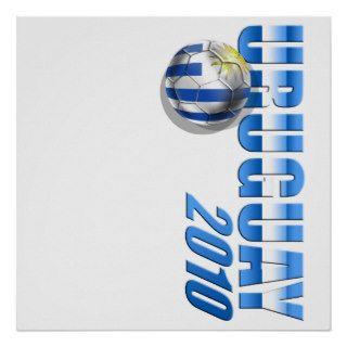 Uruguay 2010 Logo Soccer Futbol Celeste gifts Poster