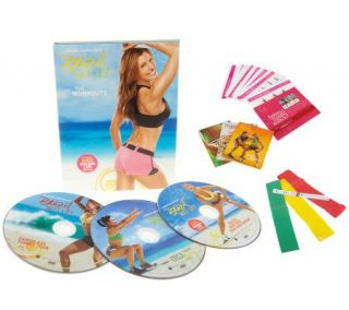 Brazil ButtLift Lower Body Workout with 3 DVD & 3 Booty Bands —