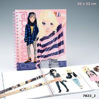 Top Model Fashion Design Colouring Book Toys & Games