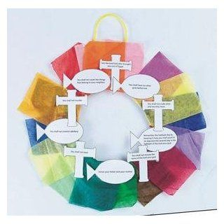 Ten Commandments Wreath Craft Kit (Makes 24): Toys & Games