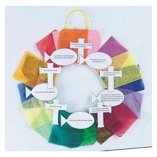 Ten Commandments Wreath Craft Kit (Makes 24) Toys & Games