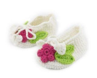 Fashion Vintage Handmade Toddler Infant Baby Girl Boy Flower Sock Crochet Solf Knit Shoes White Size S Baby