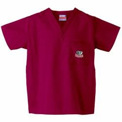 Gelscrub Unisex Red Alabama Crimson Tide Logo Scrub Top College Themed