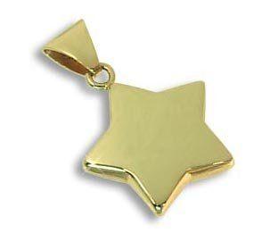 Ketten Anh�nger Ein Stern der Deinen Namen tr�gt echt 14 Karat Gold 585 (Art. 212113) GRATIS SOFORT GRAVUR: Schmuck