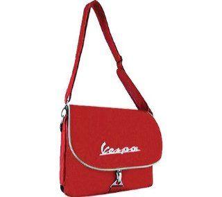 "Schultertasche FORME ""Vespa Logo"", rot, Messenger Bag, 340x260x100mm: Sport & Freizeit"