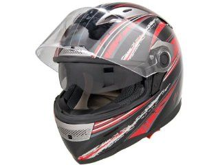 DOT Approved Motorcycle Helmet Full Face Clear Visor + Dual Smoke Smoke Visor EVOS Sport Street Bike Cruiser Scooter Snowmobile ATV Helmet   Medium: Automotive