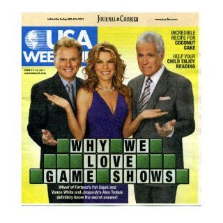 USA Weekend June 17 2011 Pat Sajak & Vanna White/Wheel of Fortune & Alex Trebek/Jeopardy on Cover, Coconut Cake Recipe, James Patterson: Inspire Your Kids to Read: USA Today: Books