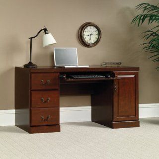 Sauder Heritage Hill Computer Credenza, Classic Cherry Finish   Home Office Desks